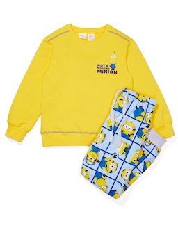 Kids Minions Grid Pj Set