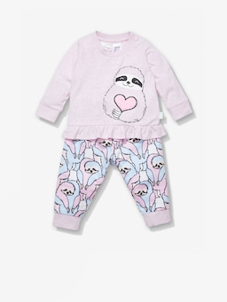 Baby Hugging Sloth Pj Set