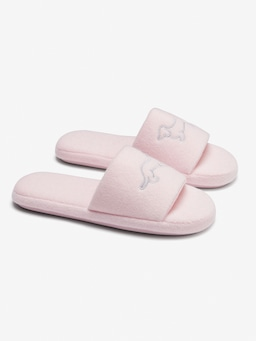 Kids Pink Towelling Slide