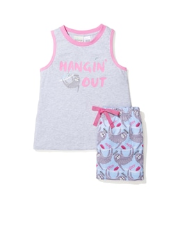 Jnr Girls Hangin' Sloth Pj Set