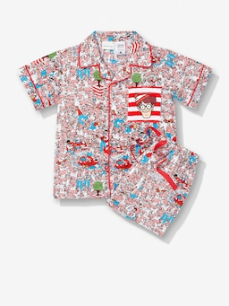 Jnr Kids Where's Wally Pj Set