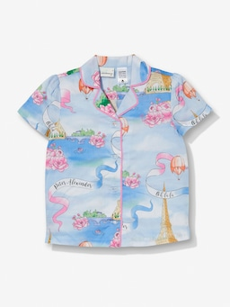 Jnr Girls Blue Paris Pj Set