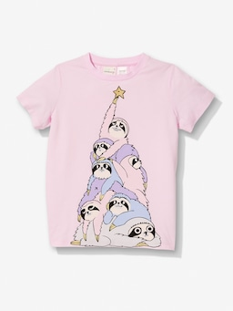 Girls Sloth Christmas Pj Set