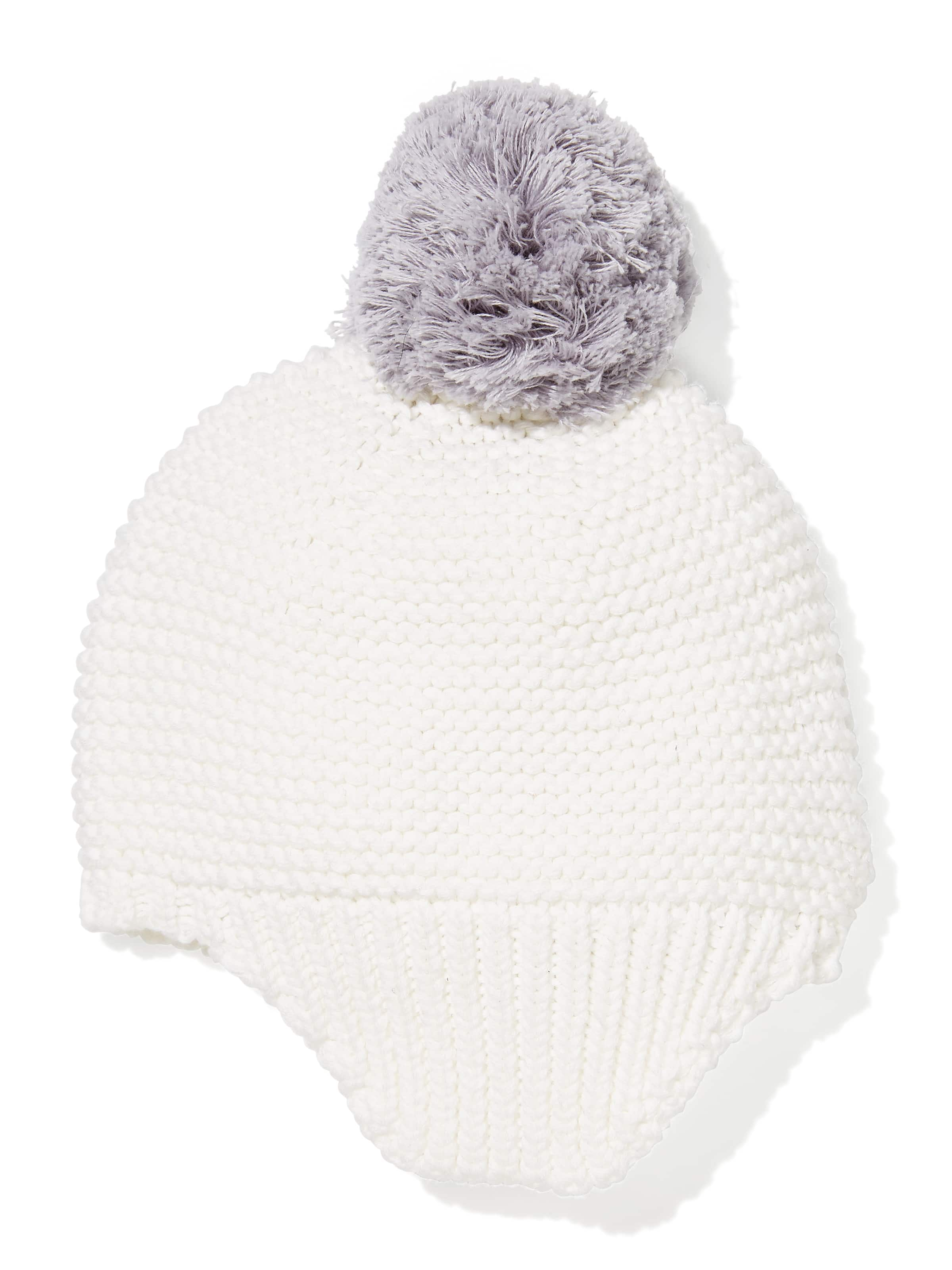 Image for Baby Grey Pom Pom Beanie from Peter Alexander ... 8a9ef5674f5