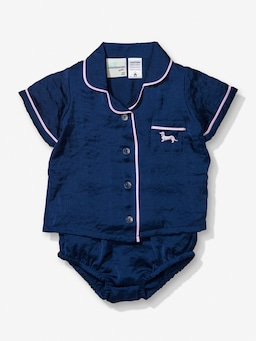 Baby Navy Chic Satin Pj Set