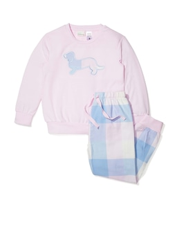 Jnr Girls Buffalo Check Long Pj Set