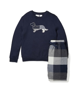 Jnr Boys Buffalo Check Long Pj Set