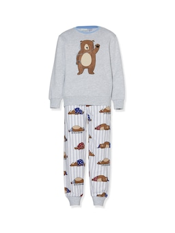 Boys Bear Long Flannelette Pj Set