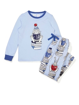 Jnr Boys Book Bunny Flanelette Long Pj Set