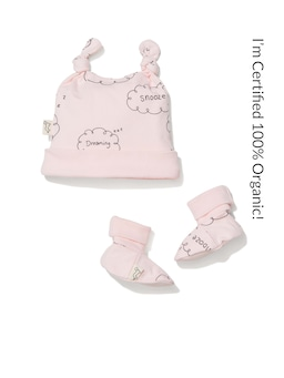 Baby 100% Organic Cloud Bootie Set
