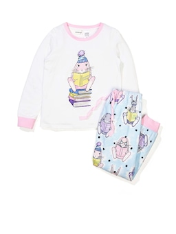 Jnr Girls Sarah Bunny Long Pj Set