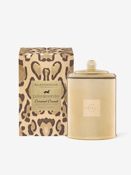 Glasshouse Fragrances Limited Edition Caramel Crunch Candle 350G