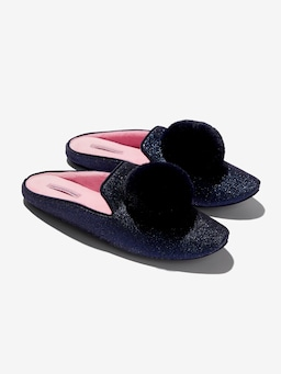 Navy Sparkle Slipper