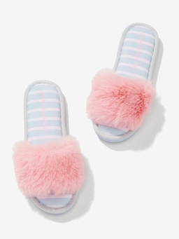 Pink Luxe Fur Slide