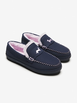 Navy Micro Suede Moccasin