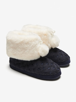 Chunky Knit Fur Cuff Boot