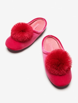 Ruby Velvet Slipper