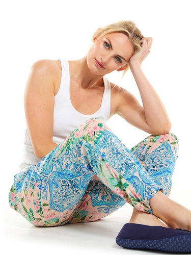 Floral Tile Tapered Pj Pant