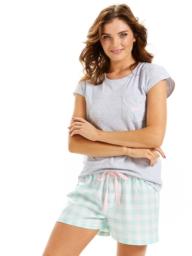 Mint Gingham Boyshort