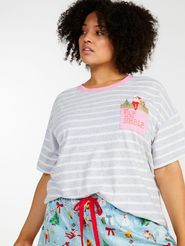 Gingham Roll Up 3/4 Pj Pant
