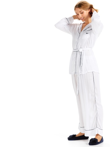 Plain Jane White Pj Set