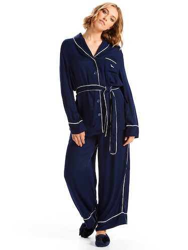 Plain Jane Navy Pj Set