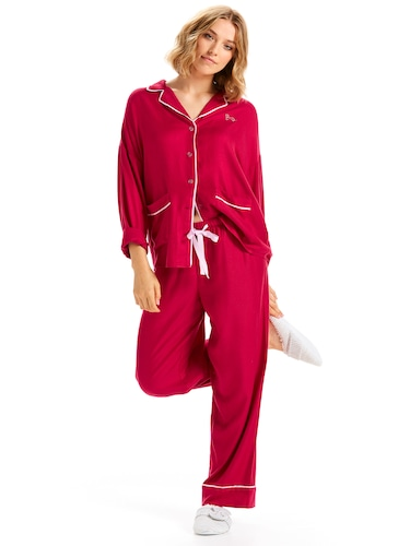 Plain Jane Red Flannelette Pj Set