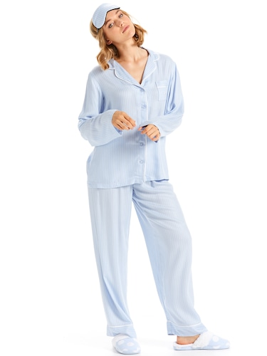 Stripe Luxe Boxed Pj Set
