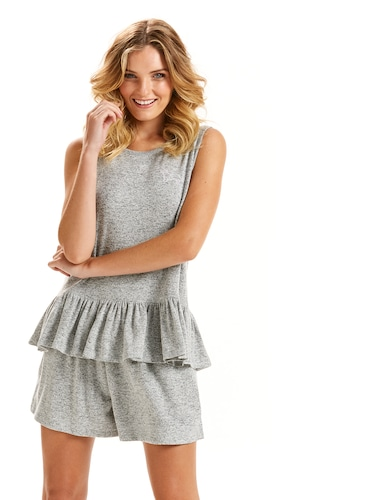 Cute Fuzzy Knit Pj Set