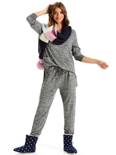 Charcoal Fuzzy Easy Pj Pant