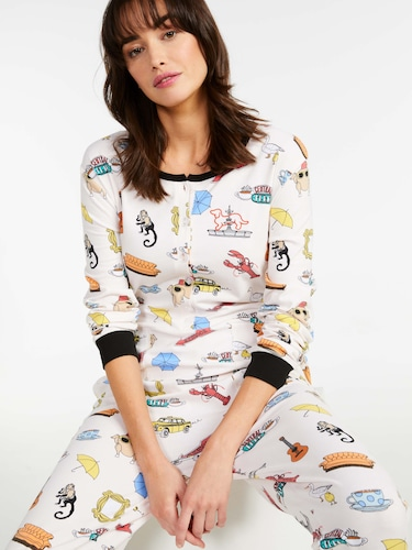 P.A. Plus Buffalo Check Rib Sleeve Pj Set
