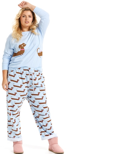P.A. Plus Long Dog Classic Flannelette Pj Pant