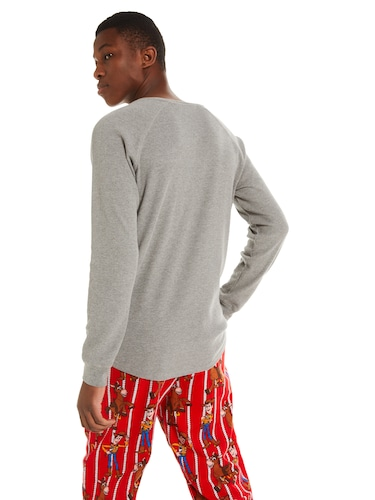 Mens P.A. Classic Waffle Long Sleeve Henley