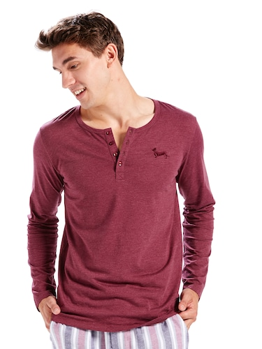 Mens Super Soft Henley
