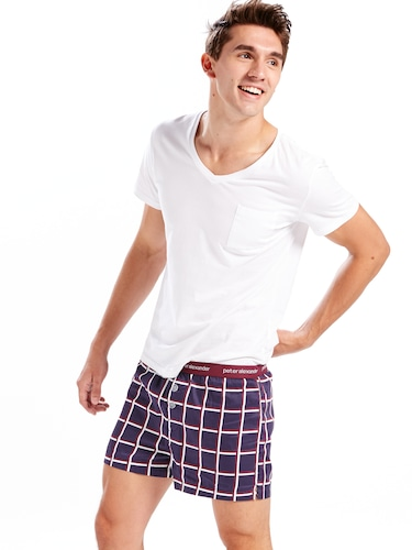 Mens Window Pane Boxer Short