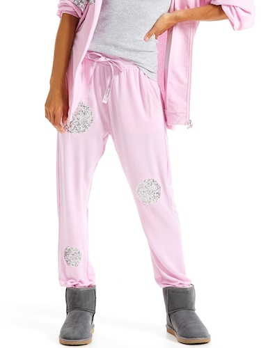 Pink Sequin Track Pant