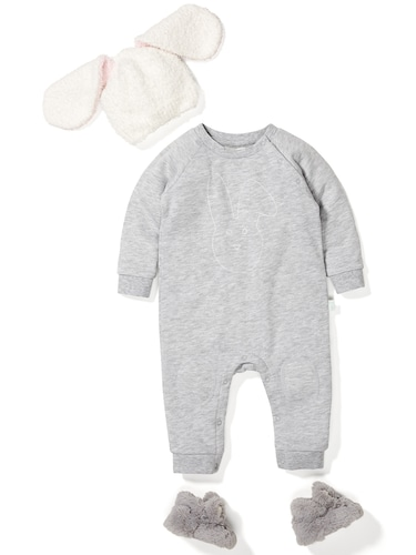 Baby Unisex Quilted Bunny Romper