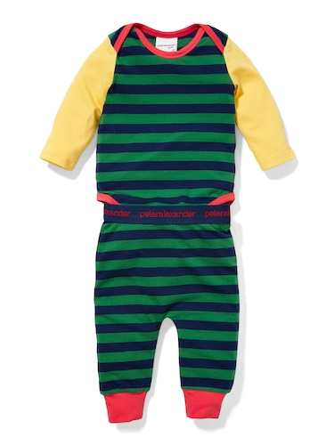 P.A. Play Baby Green Stripe Romper