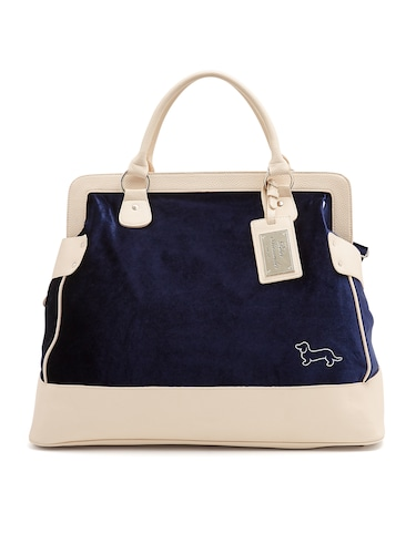 Navy Velvet Overnight Bag
