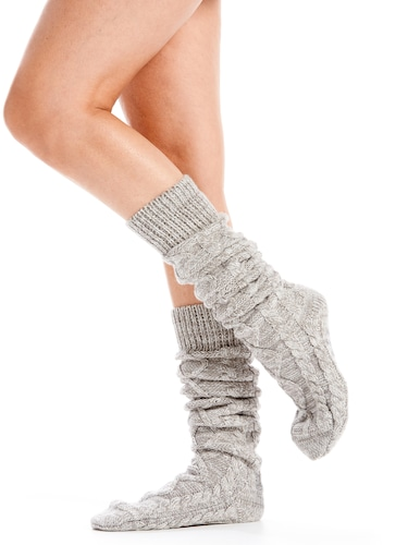 Tall Cable Knit Socks