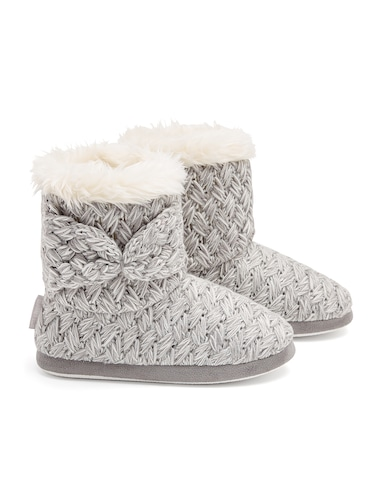 Bow Knitted Boot
